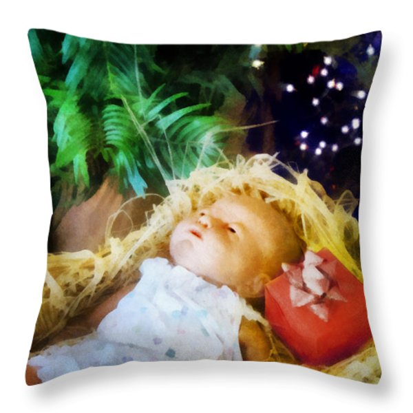 The Gift Throw Pillow by Francesa Miller