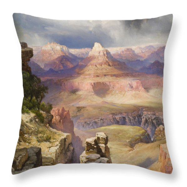 The Grand Canyon Throw Pillow by Thomas Moran