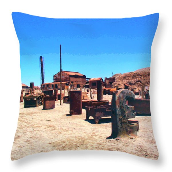 The Graveyard Throw Pillow by Dominic Piperata