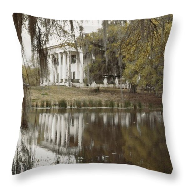 The Greenwoood Plantation Home Throw Pillow by J. Baylor Roberts