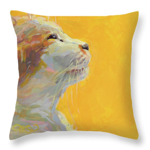 The Light Throw Pillow by Kimberly Santini
