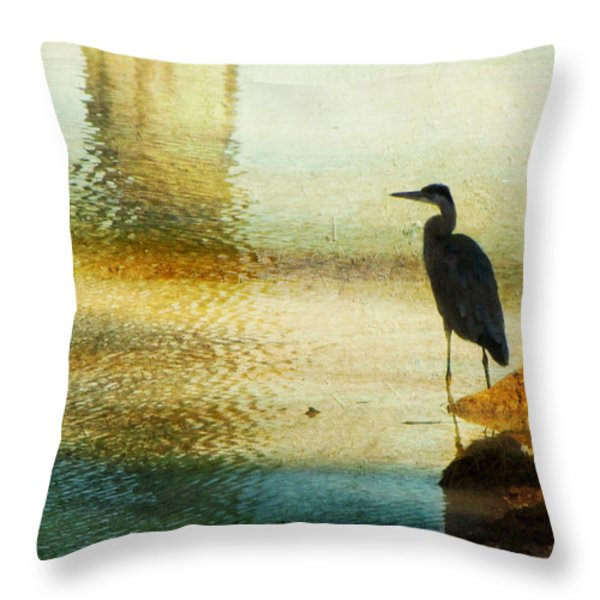 The Lonely Hunter II Throw Pillow by Amy Tyler