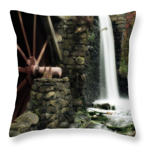 The Old Mill Throw Pillow by Renee Hong