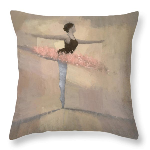 The Pink Tutu Throw Pillow by Steve Mitchell