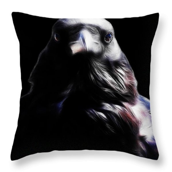 The Raven In My Dreams Throw Pillow by Wingsdomain Art and Photography