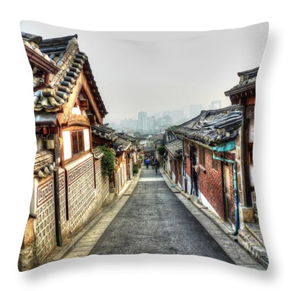 The Soul Of Seoul Throw Pillow by Michael Garyet
