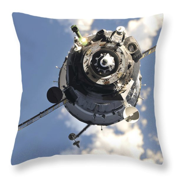 The Soyuz Tma-20 Spacecraft Throw Pillow by Stocktrek Images
