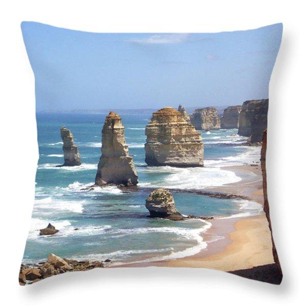 The Twelve Apostles Throw Pillow by Eena Bo