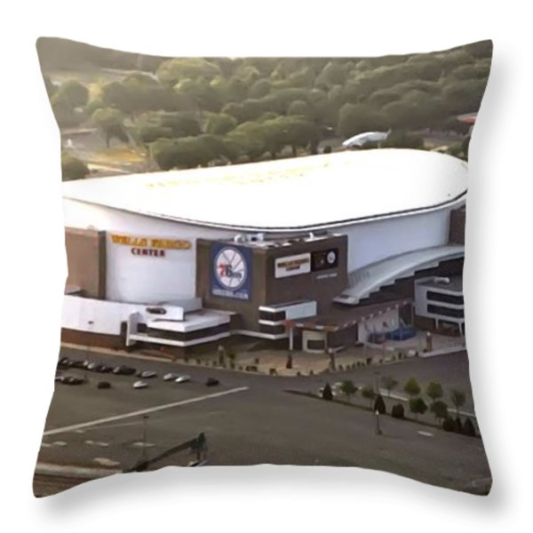 The Wells Fargo Center Throw Pillow by Bill Cannon
