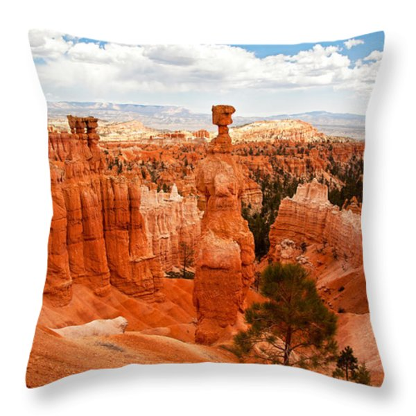 Thors Hammer Throw Pillow by Jane Rix