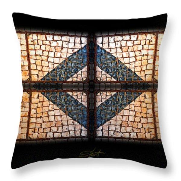 Tiffany Sidewalk Throw Pillow by Charles Stuart