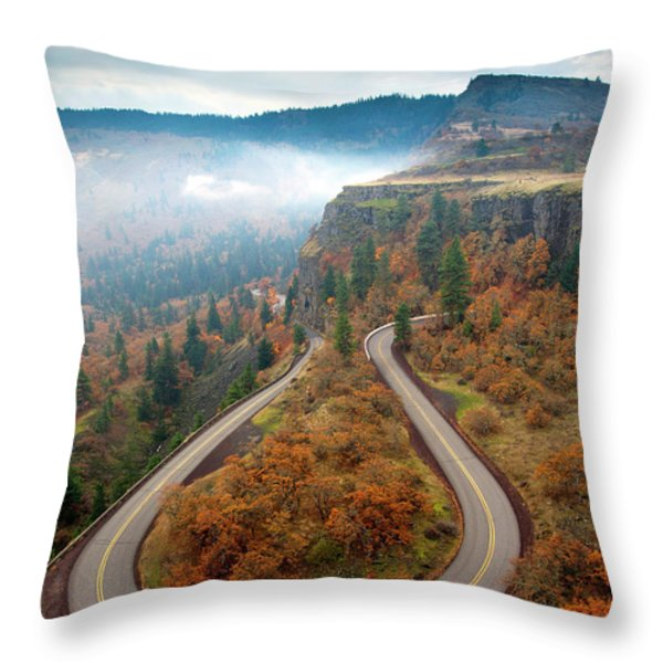 Tight Corner Throw Pillow by Mike  Dawson