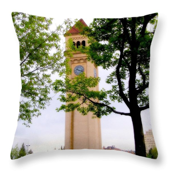 Time Throw Pillow by Susan Kinney