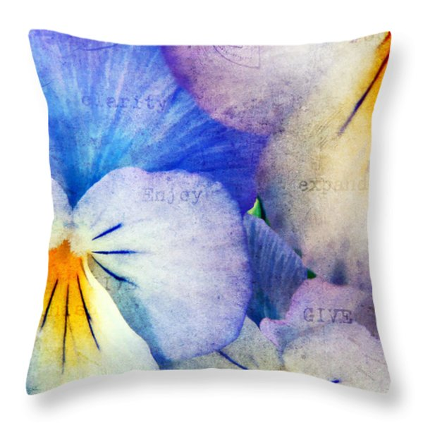 Tones Of Blue Throw Pillow by Darren Fisher