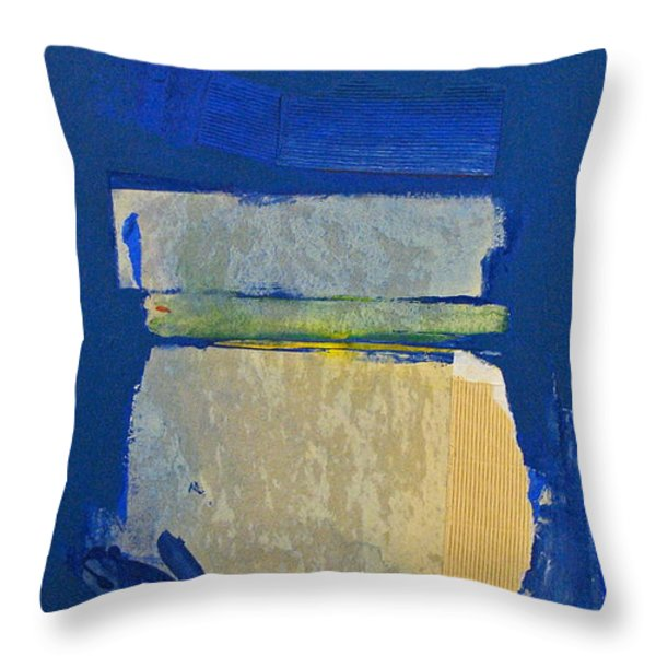 Transition 5 Slabs Throw Pillow by Cliff Spohn