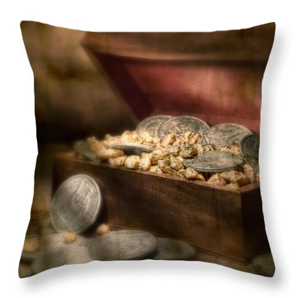 Treasure Chest Throw Pillow by Tom Mc Nemar