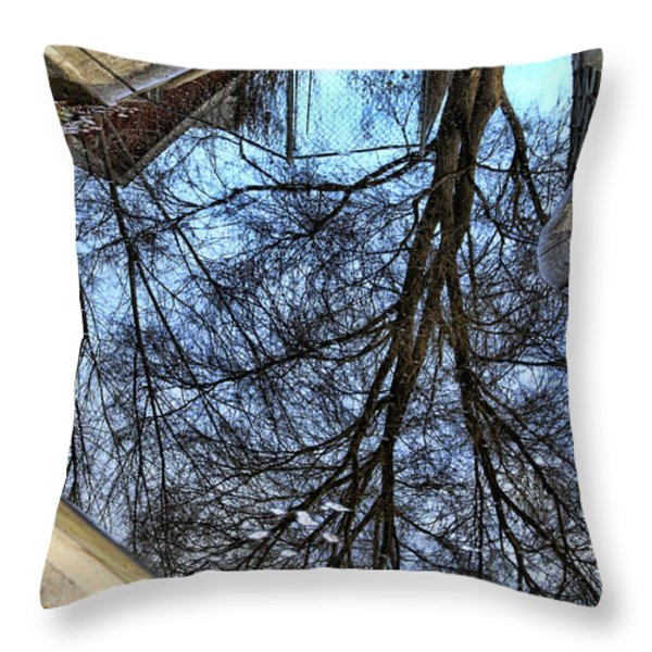 Tree Reflection From No Where Photography Image Throw Pillow by James BO  Insogna
