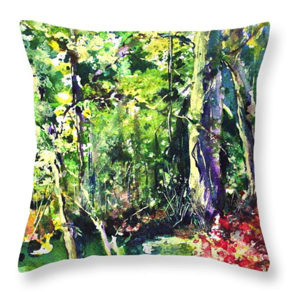 Trees Throw Pillow by Robin Miller-Bookhout