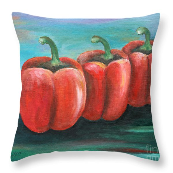 Triplets Throw Pillow by Jutta Maria Pusl