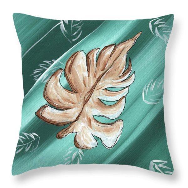 Tropical Dance 1 By Madart Throw Pillow by Megan Duncanson