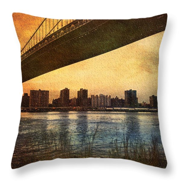 Under The Bridge Throw Pillow by Svetlana Sewell