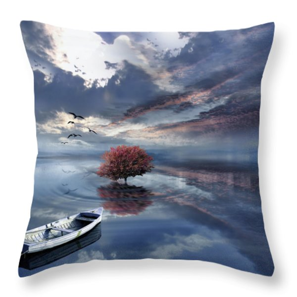 Unfathomable Throw Pillow by Lourry Legarde