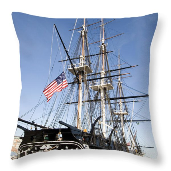 Uss Constitution Throw Pillow by Tim Laman