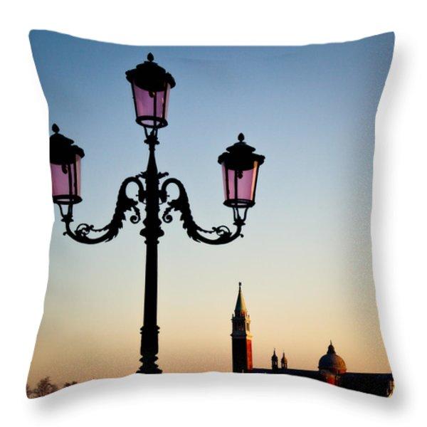 Venetian Sunset Throw Pillow by Dave Bowman