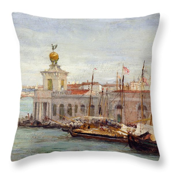 Venice Throw Pillow by Sir Samuel Luke Fields