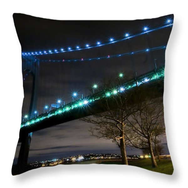 Verrazano-narrows Bridge Throw Pillow by Svetlana Sewell