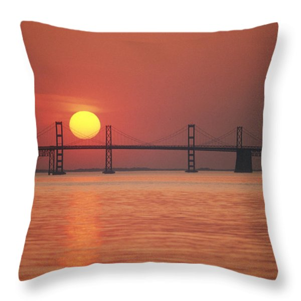 View From The Water Of The Chesapeake Throw Pillow by Kenneth Garrett