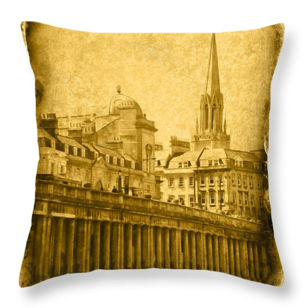 Vintage08 Throw Pillow by Svetlana Sewell