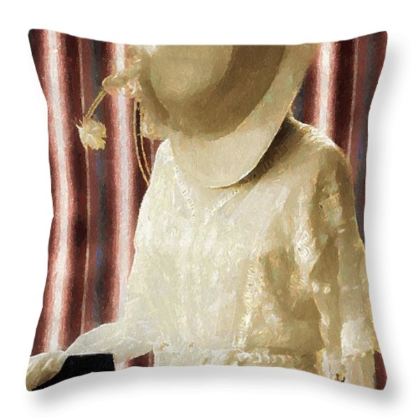 Waiting For Mr. Right Throw Pillow by RC deWinter