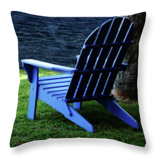 Waiting Throw Pillow by Sandy Keeton