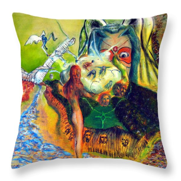 Watcher Of The Skies Throw Pillow by Albert Puskaric