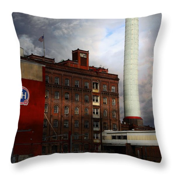 Welcome To Crockett California Blue Collar Usa . 7d8862 Throw Pillow by Wingsdomain Art and Photography