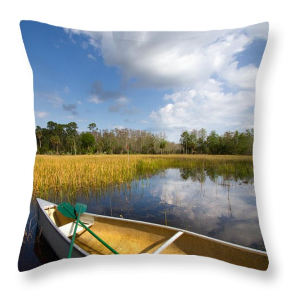 White Tower Throw Pillow by Debra and Dave Vanderlaan