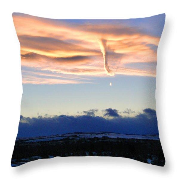Winter Tornado Throw Pillow by Al Bourassa