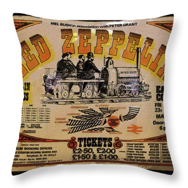 Zeppelin Express Throw Pillow by David Lee Thompson
