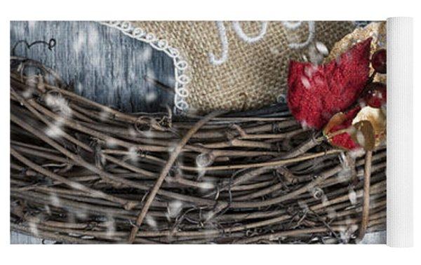 Christmas Wreath Yoga Mat