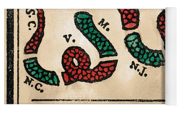 Join Or Die Cartoon 1754 Yoga Mat by Benjamin Franklin