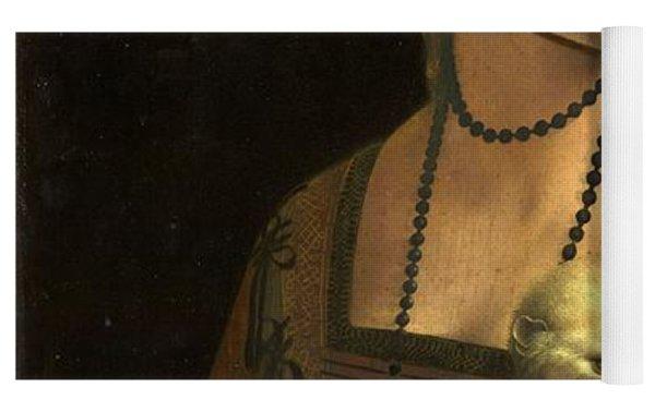 Lady With An Ermine Yoga Mat by Leonardo Da Vinci