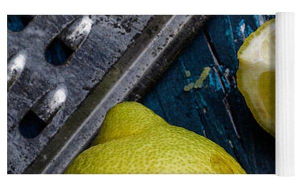 Lemon Yoga Mat by Nailia Schwarz