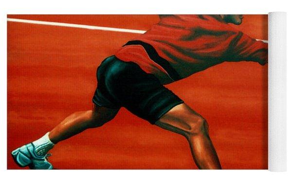 Roger Federer At Roland Garros Yoga Mat
