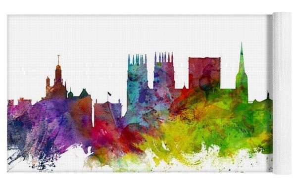 York England Skyline Yoga Mat by Michael Tompsett
