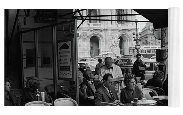 1960s Patrons At Cafe De La Paix Yoga Mat by Vintage Images