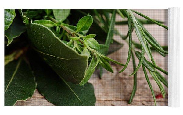 Kitchen Herbs Yoga Mat