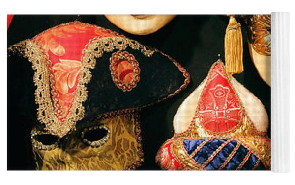 Venetian Masks Yoga Mat