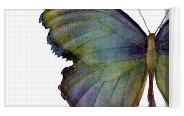 65 Moonglow Butterfly Yoga Mat by Amy Kirkpatrick
