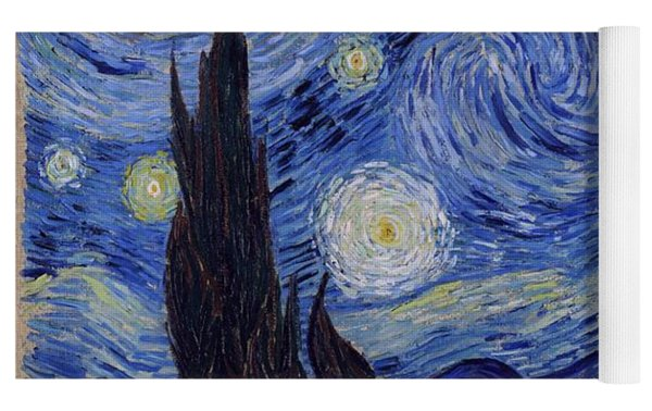 Starry Night Yoga Mat by Vincent Van Gogh